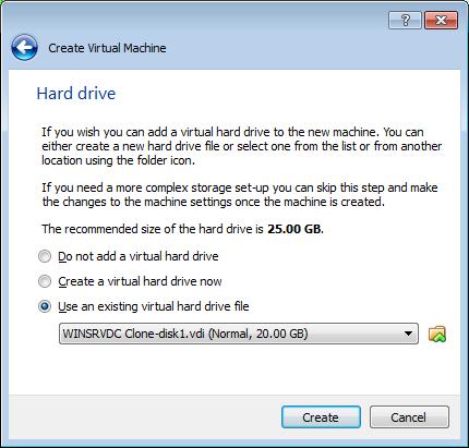 VirtualBox New Dialog